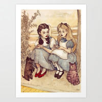 Dorothy and Alice Art Print by Helen Green