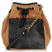 POUCH POCKET LEATHER DRAWSTRING BAG