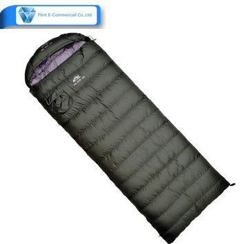 2018 custom Military green outdoor adult lightweight down sleeping bag