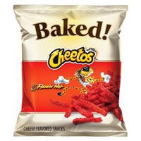 Cheetos Oven Baked Flamin' Hot Cheese Flavored Snacks 7.625 oz