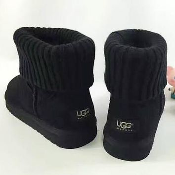 Trendsetter UGG Plush Leather Boots Boots In Tube Boots
