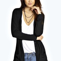Rosie Jersey Button Through Basic Cardigan