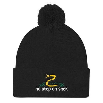 No Step On Snek Pom Pom Knit Cap