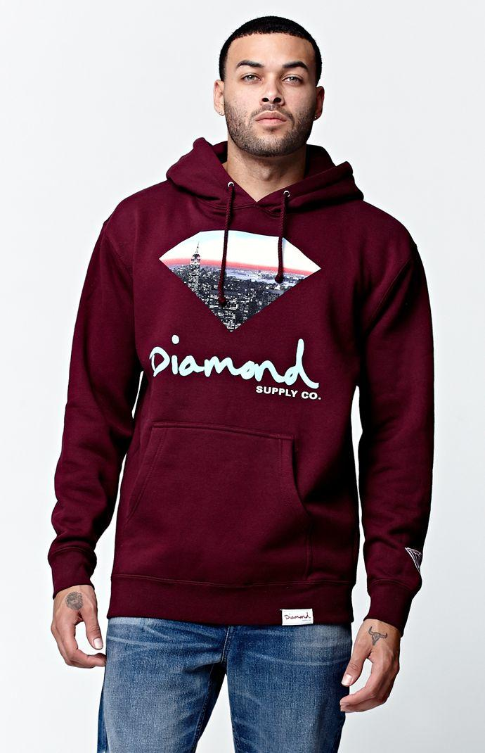 Diamond Supply Co Cityscape Pullover From Pacsun Hoodies