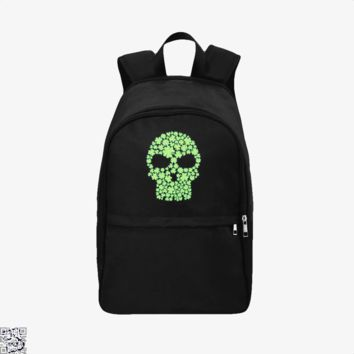 Shamrock Skull, Irish Clover Backpack