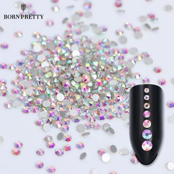 Flat Back Rhinestone 3D Nail Colorful Multi-size Accessoires Manicure Nail Art