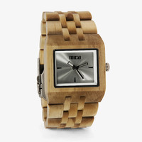The Deck Blonde Silver SolidCore Wood Watch | Men's Watches
