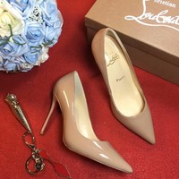 Best Online Sale Christian Louboutin CL 100mm Patent Leather High Heels W03
