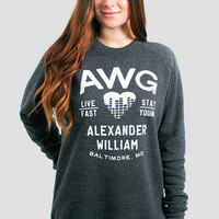 Girls AWG Live Young Crewneck Pullover - Glamour Kills Clothing
