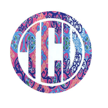 Lilly Pulitzer Circle Monogram Vinyl Decal