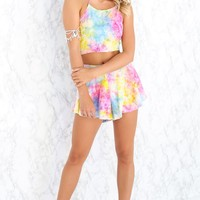 Lolita Two Piece Set Rainbow