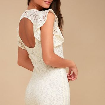 Monae Ivory Lace Bodycon Dress