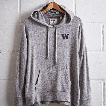 Tailgate Women's Washington Plush Hoodie, Gray Heather