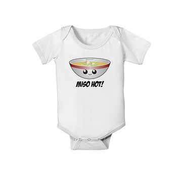 Miso Hot - Cute Miso Soup Bowl Baby Romper Bodysuit by TooLoud