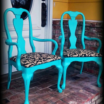 Accent chairs, captain's chairs, burlap chairs, rustic accent chair, turquoise chairs, distressed chair, rustic chair,  shabby chic chair