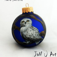 Harry Potter Christmas Ornament Owl Christmas ball Hand Painted Bauble Glass Christmas Ornaments New year Christmas Craft Gift Gryffindor