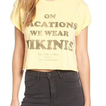 The Laundry Room 'On Vacations We Wear Bikinis' Crop Tee | Nordstrom