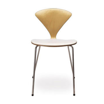 cherner stacking chair - upholstered seat