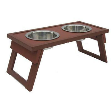 Dog Bowl Double Raised Sml Rus