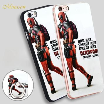 Minason Deadpool Movie Posters Mobile Phone Shell Soft TPU Silicone Case Cover for iPhone X 8 5 SE 5S 6 6S 7 Plus