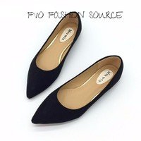 Sexy Pointed Toe Basic Flats Slip into Autumn  Slip On Fabulous!