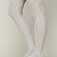 Free People  Aran Tall Sock at Free People Clothing Boutique