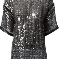 Aviù 'I Hate You' sequined top