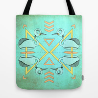 Aztec swan Tote Bag by AmDuf