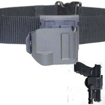 VONE05L Tactical Airsoft Gun Clip OWB pistol Belt Holster for Glock 17 19 22 23