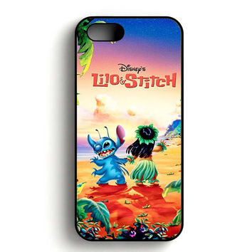 lilo and stitch disney poster iPhone 5, iPhone 5s and iPhone 5S Gold case
