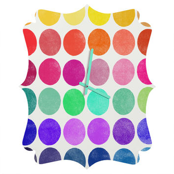 Garima Dhawan Colorplay 6 Quatrefoil Clock