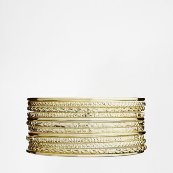 ASOS Etched Bracelet Bangle Pack