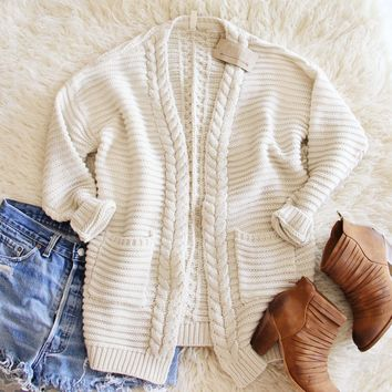 Cozy Bundle Sweater in Cream