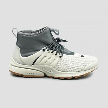 auguau NIKE - Women - W Presto Mid Utility - Light Bone/Grey