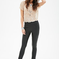 FOREVER 21 Faux Leather Pants Black