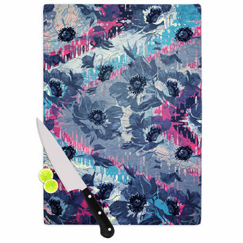 "Suzanne Carter ""Poppy"" Blue Pink Cutting Board"