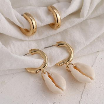 4 Piece Shell Hoop Set