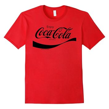 Coca-Cola Black Enjoy Logo Graphic T-Shirt