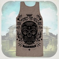 Sugar Skull Tri-Coffee Tank Top : Pierce The Veil