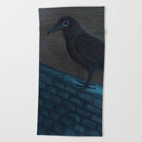 Raven Eye Beach Towel by ES Creative Designs