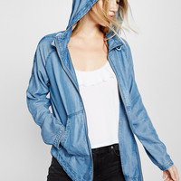 Lightweight Denim Raglan Parka