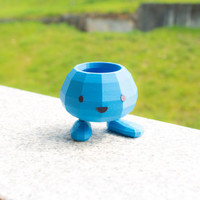 Oddish Flower Pot  - Pokemon Planter - 3d Printed Garden / Home Decoration