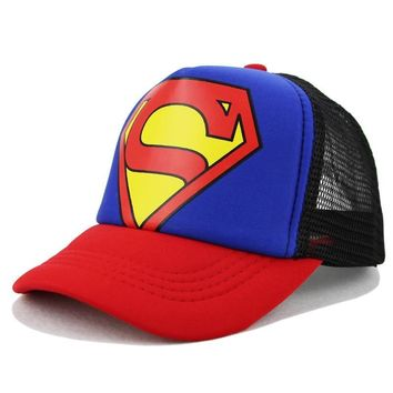 Children's Hats Superman Baseball Cap  Baby Hip Hop Hats Fashion Boy Snapback Boys Hip Hop Kids Hat Gorras 3-10 YearsKawaii Pokemon go  AT_89_9