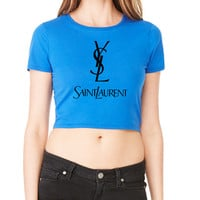 YSL Yves Saint Laurent Crop T-Shirt