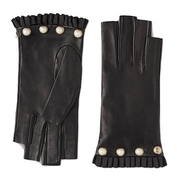 Gucci Studded leather fingerless glove