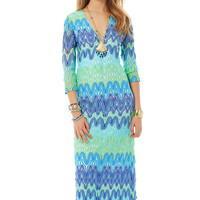 Lilly Pulitzer Lamora Knit Lace Maxi Dress