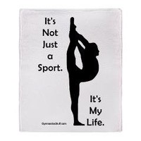 Gymnastics Blanket - Life> Gymnastics Blankets and Duvets> Gymnastics Stuff: Gymnastics Apparel and Gifts
