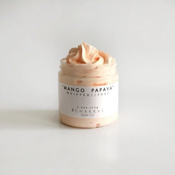 Whipped Soap, 4 oz jar, Mango Papaya, Cream Soap