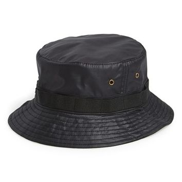 Men's Topman Black Bucket Hat - Black
