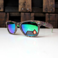 Luckless LLC | Realtree Xtra® Wasatch Sunglasses (Green-Blue)